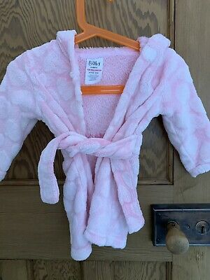 Baby Girls Dressing Gown 6-9 Months