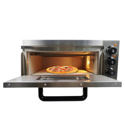 "UK Electric Pizza Oven Single Deck Commercial Baking Oven 16""Fire Stone Catering"