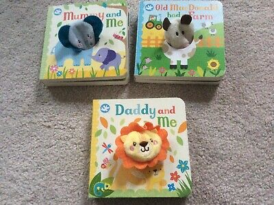Set Of 3 Baby Puppet Books