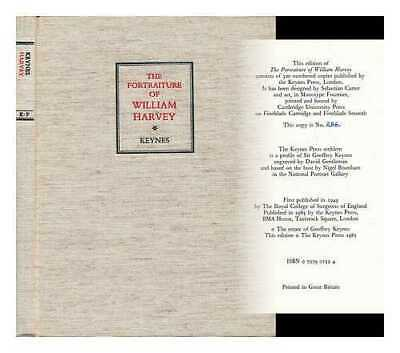 The Portraiture of William Harvey : the Thomas Vicary Lecture 1948