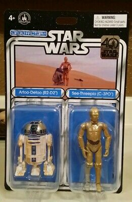 Disney Store Parks Exclusive!! DROID FACTORY C-3PO and R2-D2 Two Pack- NEW!!!