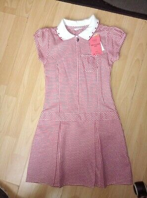 Girls Age 7-8 Marks And Spencer Gingham Uniform. New With Tags