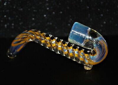 "4"" UNICORN STEM SHERLOCK - ORANGE One Hit Tobacco Smoking Glass Pipe One Hitter"