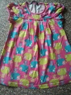 Girls summer cat dress, aged 1 - 1.5 years from George.