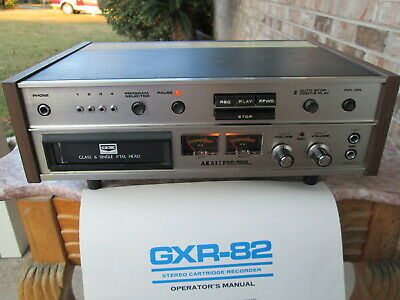 AKAI GXR-82D Stereo 8 Track Player/Recorder  W/Original Receipt & owners manual