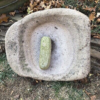 Large Native American Old Grinding Stone