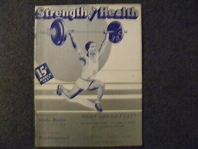 Vintage March 1937 Strength & Health Magazine Sonja Henie