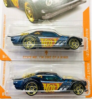 2020 Hot Wheels ID CHASE 1/8 Night Shifter 2 Car Lot Super Rare Unscanned Mint