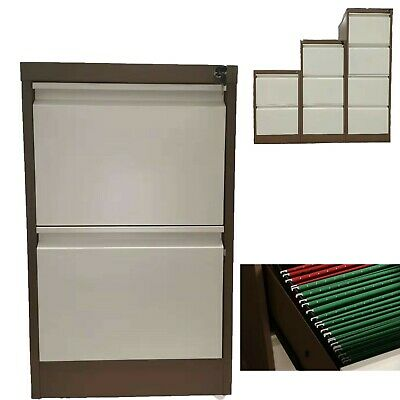 2 Drawer Filing Metal Steel Office Cabinet