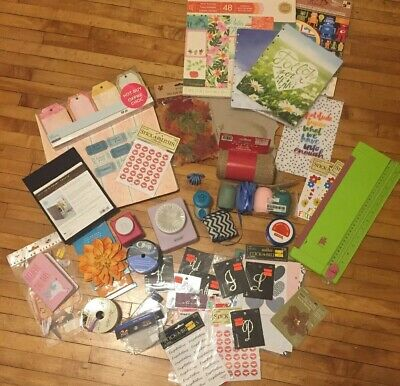 Large Lot Of Paper Crafting/ Planner Items