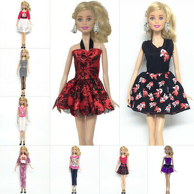9 Set Casual Wear Clothes Mix Party Dress For Barbie Doll Outfit Kid Toy Gift UK