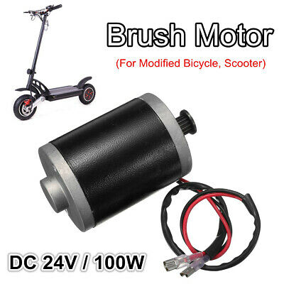 DC 24V 100W Permanent Magnet Electric Brush Motor Generator DIY Scooter Parts
