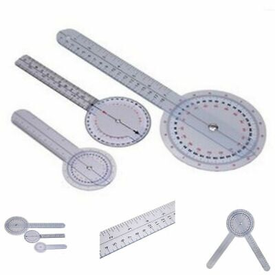 Goniometer Set 3 Pieces Protractor Medical Ruler 12 Inches 8 Inches 360 Degree