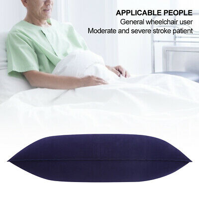 Outdoor Camping Air Inflatable Pillow Folding Flocking Travel Cushion ML