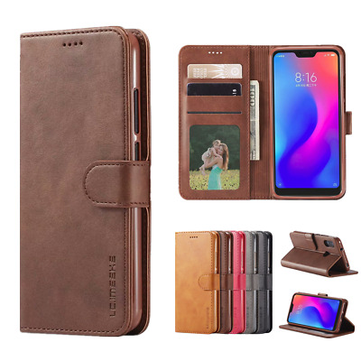 Magnetic Flip Leather Wallet Case Cover for Xiaomi Redmi 7 Note 4X Note 6 Pro Y3