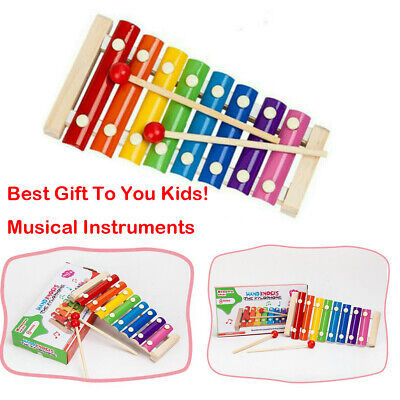8 Notes Baby Kid Wooden Xylophone Piano Musical Music Instrument Toy Xmas Gift r