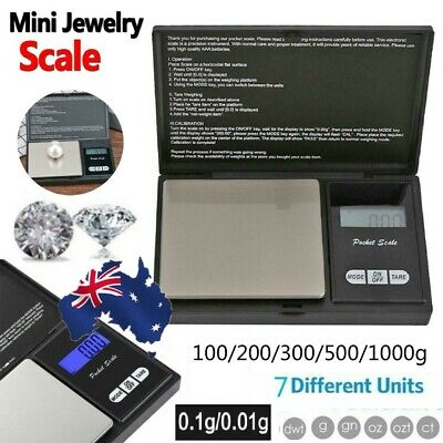 100-500g 0.01 DIGITAL POCKET SCALES JEWELLERY ELECTRONIC milligram micro mg AU