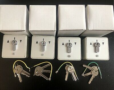 4 Pieces Set Of Roller Shutter Key Switch With 3 Keys Each Fast Delivery