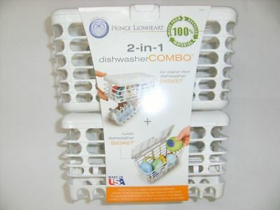 Prince Lionheart 2-in-1 Infant and Toddler Dishwasher Cleaning Basket Combo