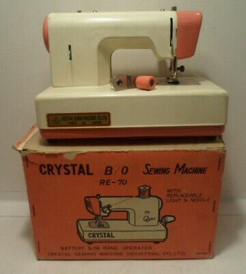 Vintage Crystal B/O RE-70 Sewing Machine with original box - AS-IS, untested