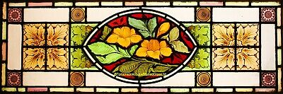 Antique VICTORIAN LEADED STAINED GLASS Window - We Ship Worldwide