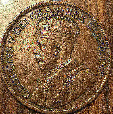 1917 Canada Large Cent Penny Large 1 Cent Coin