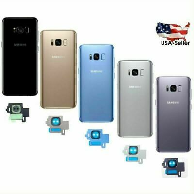 Back Glass Cover Battery Door Housing + Camera Lens Cover For Samsung Galaxy S8