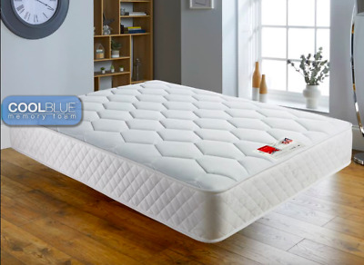 Sprung Memory Foam Matress 3ft single 4ft6 double 5ft king size free delivery
