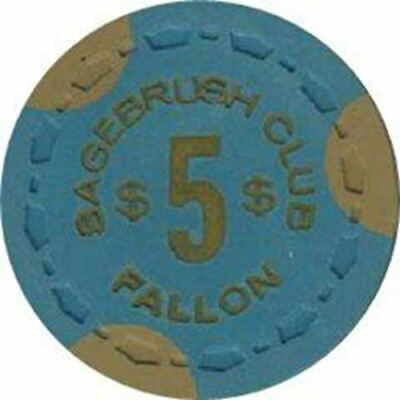 Sagebrush Club Casino Fallon NV $5 Chip 1968