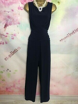 Phase eight black maxi long jumpsuit dress Size 14 occasion/party/christmas