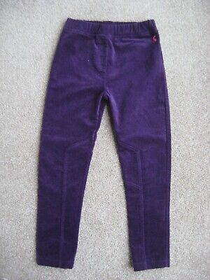 Joules Girls Purple Trousers jeans Pull On cotton velveteen Age 3 -5 years
