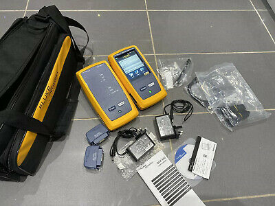 Fluke DSX-600 CableAnalyzer with DSX-CHA004 CAT6 Adapter Set.