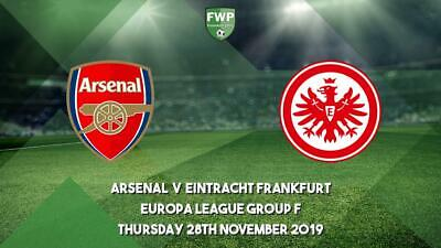 ARSENAL V FRANKFURT team sheet + FULL TIME REPORT 28 NOVEMBER europa league