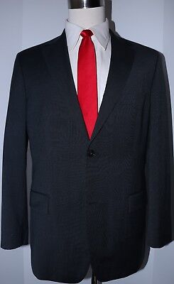 Hugo Boss Gray Wool Dual Vented Two Button Mens Suit 40 Regular 35 33 Flat 40R