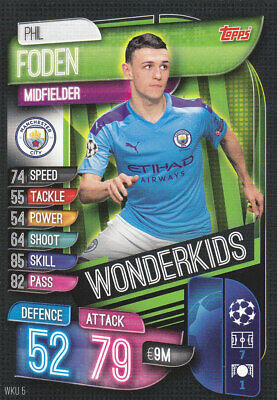 TOPPS MATCH ATTAX CL 2019-20 - Phil Foden - Man City - # WKU 5 - WONDERKIDS