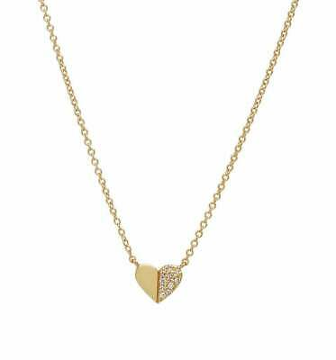 14K Solid Yellow Gold Diamond Initial Necklace, Dainty Diamond Letter Necklace