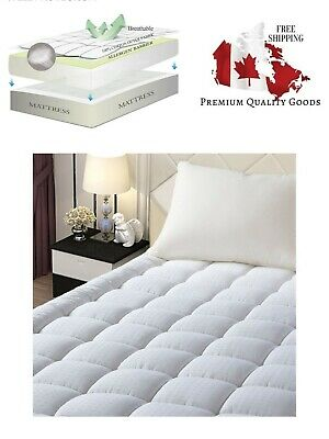 EASELAND King Size Mattress Pad Pillow Top Mattress Cover Quilted Fitted