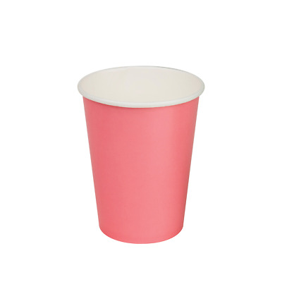 1000x Paper Cold Drink Cup 12oz / 365mL Watermelon Pink Milkshake Slushie Cups