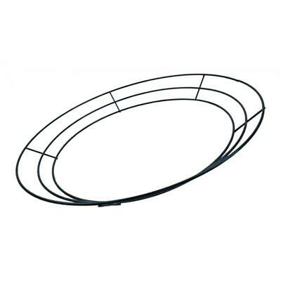 Solid Metal Flat Wreath Form Frame Ring, Floristry Craft Supplies, 12''/30cm