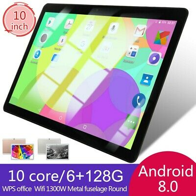 "10"" inch Tablet PC 6+128GB Android 8.0 Dual SIM Dual Camera GPS Wi-Fi Phablet US"