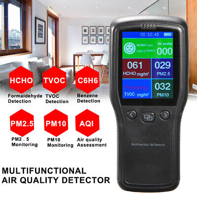 8In1 Air Quality Monitor PM2.5 Formaldehyde high-definition LCD Digital Detector