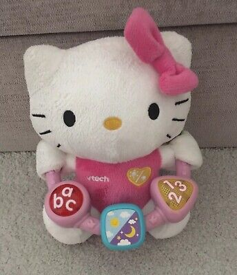 Vtech Hello Kitty Musical Beads Plush Soft Toy Baby Girls Lights Spin Teddy Pink