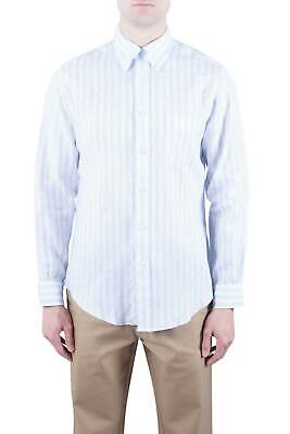 BROOKS BROTHERS Uomo - Camicia button-down Regent Fit in lino bianco a righe ...