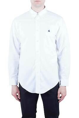 BROOKS BROTHERS Uomo - Camicia button-down Regent Fit in Oxford bianco