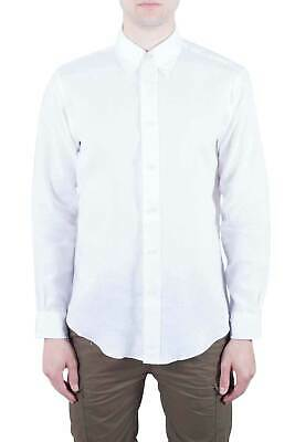 BROOKS BROTHERS Uomo - Camicia button-down Regent Fit in lino bianco