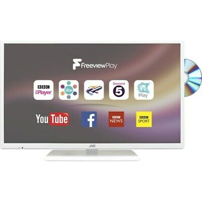 """JVC LT-32C676 32"""" HD Ready (720p) Smart LED TV and DVD built in - White"""