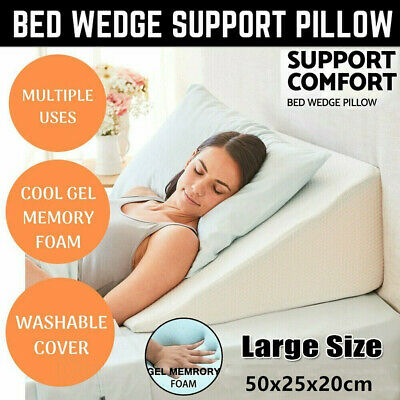 Wedge Incline Memory Foam Bed Wedge Pillow Back Support Acid Reflux Sleeping