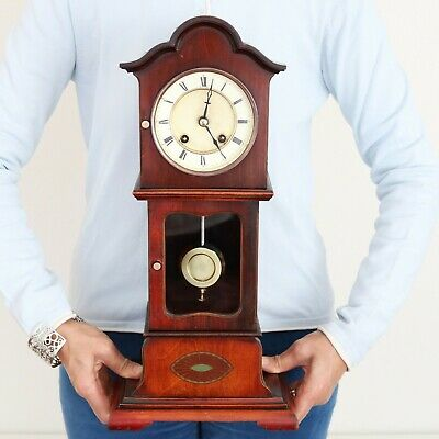 PFEILKREUZ JUNGHANS Mantel Clock Antique Baby Grandfathers EXTREMELY RARE! CHIME