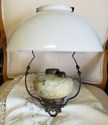 Antique ~ Hanging Dome Lamp ~A Beauty~Still in Oil~  Circa 1898's