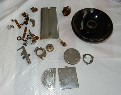 Vintage Singer 99 Sewing Machine Parts Lot Needle and Bobbin Covers and more
